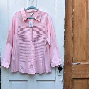 CJ Banks pink blouse Size 3X New With Tags
